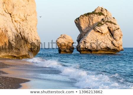 морской пейзаж рок район Кипр облака природы Сток-фото © Kirill_M