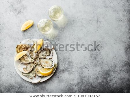 морепродуктов пластина шампанского очки иллюстрация продовольствие Сток-фото © bluering