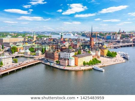 Kilátás Stockholm Svédország épület tájkép utca Stock fotó © vladacanon