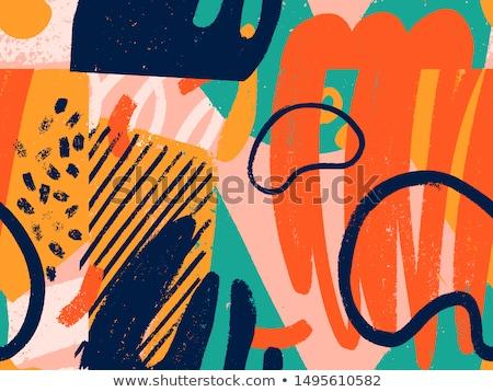festőecsetek · festék · foltok · végtelen · minta · vektor · eps8 - stock fotó © day908
