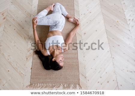 üst · görmek · güzel · genç · yoga - stok fotoğraf © deandrobot