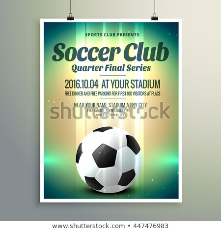 soccer cup final series flyer template Stock photo © SArts