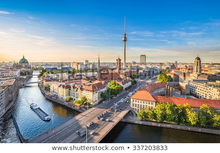 Berlin skyline with famous TV tower at Alexanderplatz  Stock photo © meinzahn