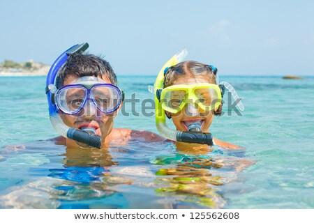少女 スキューバダイビング マスク ビーチ 実例 子 ストックフォト © adrenalina