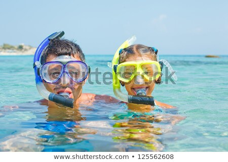 girl with scuba mask on the beach Stock photo © adrenalina