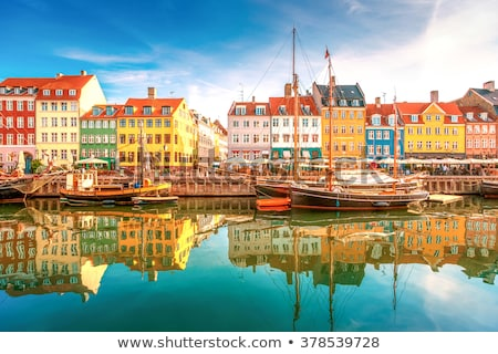 Colorful facades of Copenhagen Nyhavn district Stock photo © stevanovicigor