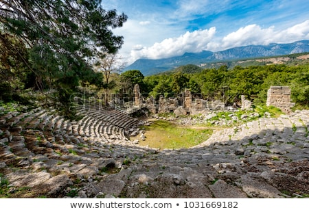 Ruins of the city of Phaselis, tourist attraction of Turkey Stock photo © Kotenko