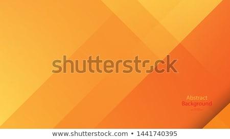 Orange Vektor Abstrakten Kurven Zeilen Vorlage