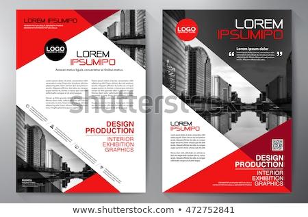 Piros üzlet éves jelentés brosúra szórólap Stock fotó © SArts
