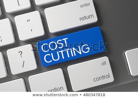 Költség vág közelkép kék billentyűzet numerikus billentyűzet Stock fotó © tashatuvango