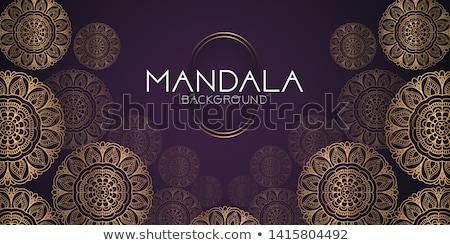 Zwarte gouden mandala decoratie banner ontwerp Stockfoto © SArts