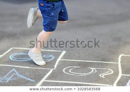 Lány játszik iskola játszótér napos idő gyermek Stock fotó © wavebreak_media