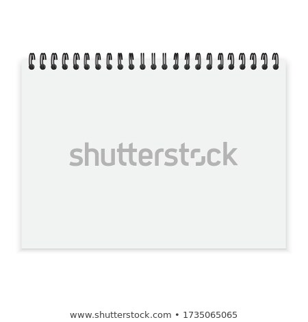 open book or diary mockup with spiral binding stock photo © SArts