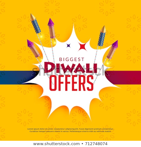 diwali sale yellow background with crackers stock photo © sarts