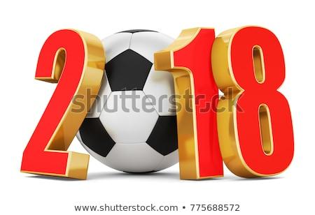 futball · futball · arany · 3D · renderelt · kép - stock fotó © Wetzkaz
