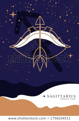 sagittarius with bow and arrows stock photo © olena