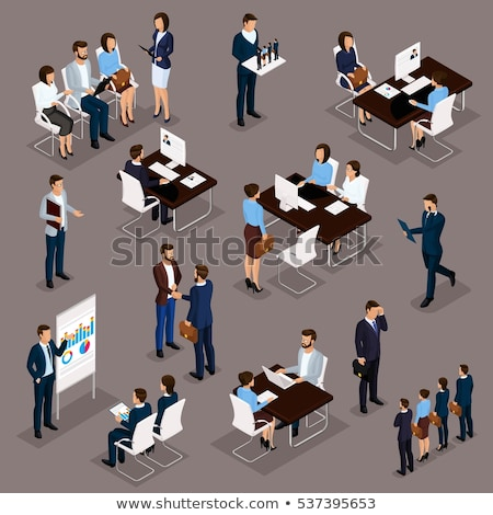 Stock photo: Analytical Reports on Laptop in Meeting Room. 3D.