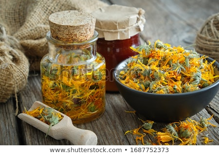 Stock photo: Calendula tea