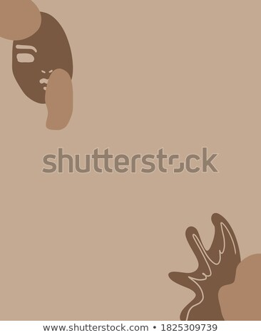 Colorful poster with cool girly design elements in flat style Stock photo © ussr