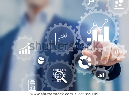 Hand Touching Data Processing Key. Stock photo © tashatuvango