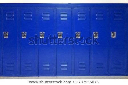 student and blue school lockers stock photo © 2design