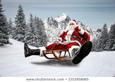 wooden santa claus sled Stock photo © compuinfoto