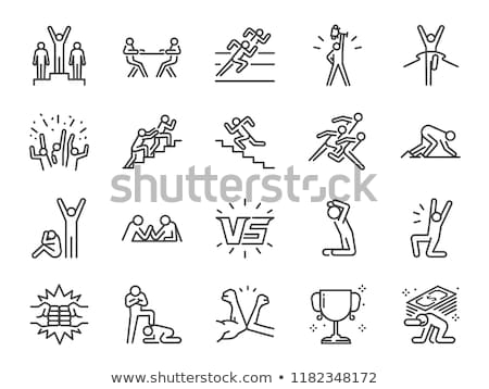 Stock photo: sports and athletics line icons