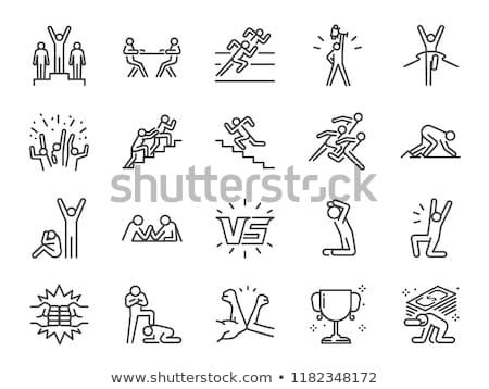 sports and athletics line icons stock photo © genestro