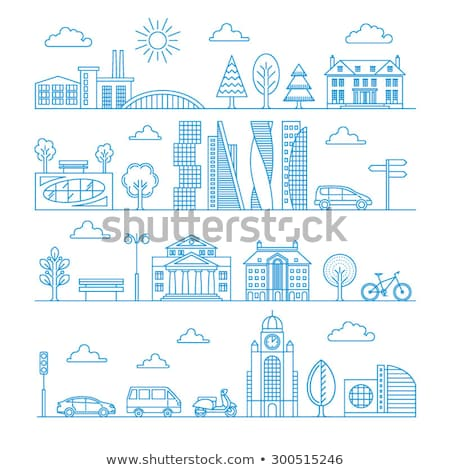 city building outline logo logotype Stock photo © vector1st