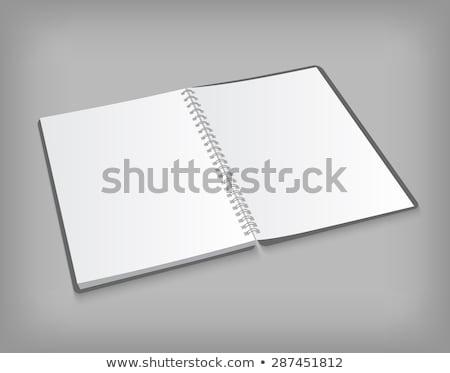 Сток-фото: открытых · спиральных · ноутбук · изолированный · серый