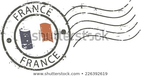Cachet de la poste France vecteur Tour Eiffel coucher du soleil Photo stock © 5xinc