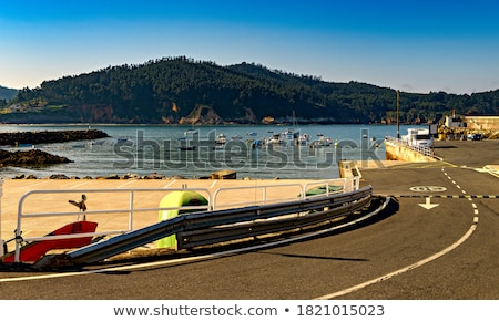 Paved road leading to beach Stock photo © IS2