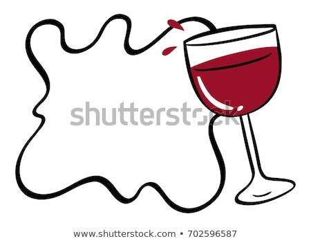 Empty wine glass vector illustration clip-art image Stock photo © vectorworks51