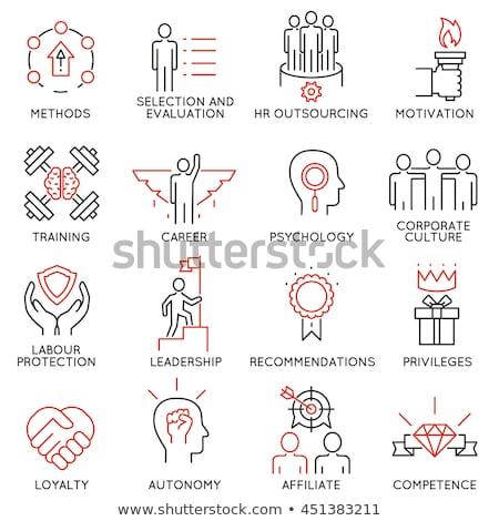 hr icons set 1 stock photo © genestro