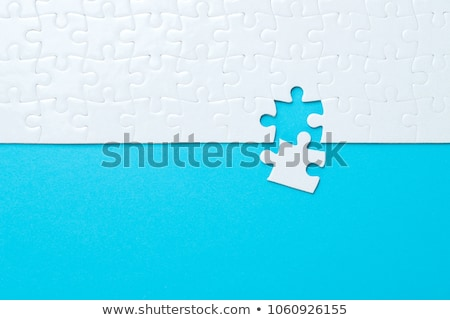 синий белый головоломки место аннотация Сток-фото © kenishirotie