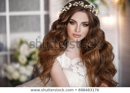 小さな · かなり · 花嫁 · 写真 · カメラ · 白 - ストックフォト © artfotodima