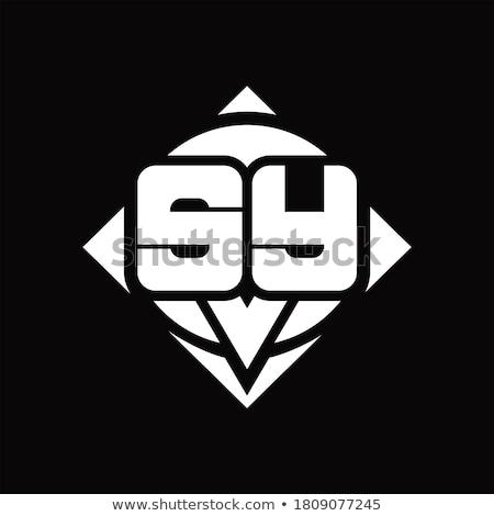Stok fotoğraf: Iş · kurumsal · logo · mektup · kare · daire