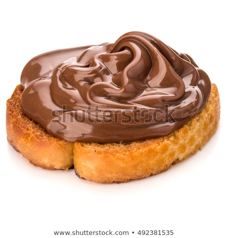 Hazelnoot room plakje brood chocolade Stockfoto © manaemedia