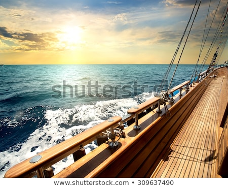 Sailboat in red sea  Stock photo © Givaga
