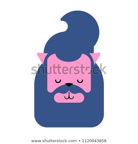 Kat gezicht modieus haren oren Stockfoto © popaukropa