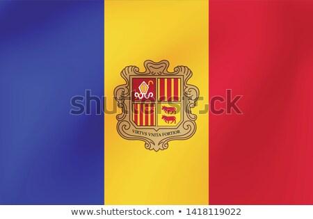 Andorra · Európa · zászló · 3D · izometrikus · stílus - stock fotó © butenkow