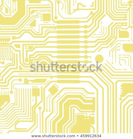 Bilgisayar anakart vektör devre kartı elektronik elemanları Stok fotoğraf © kyryloff