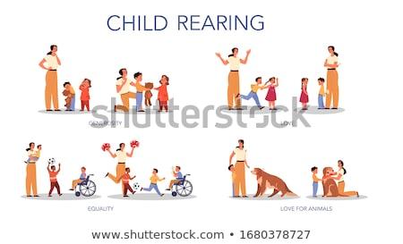 Сток-фото: девушки · мамы · Kid · коляске · иллюстрация