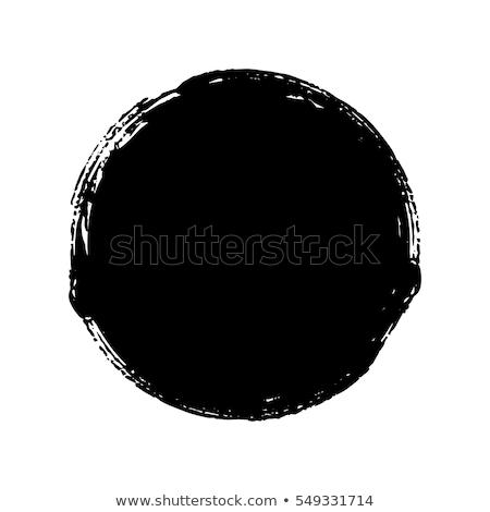 Vektor ecsetvonások körök grunge hátterek festék fekete Stock fotó © freesoulproduction