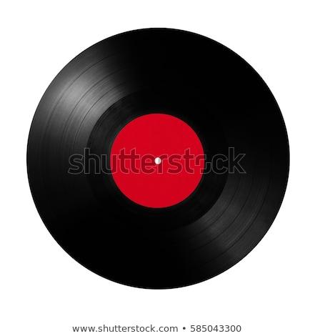 Vintage виниловых диск изолированный белый фон Сток-фото © boggy