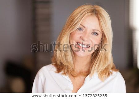 ブロンド 髪 女性 白 成功 ポジティブ ストックフォト © toyotoyo
