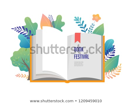 少女 読む 開いた本 孤立した 女性 紙 ストックフォト © MaryValery