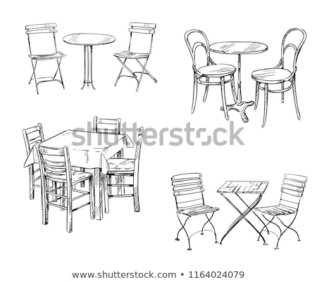 Cafe Interior Tables and Chair Vector Illustration Stock photo © robuart