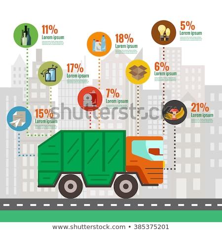Caminhão desperdiçar estatística dados percentagem Foto stock © robuart