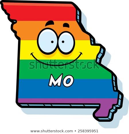 Cartoon Missouri matrimonio gay illustrazione sorridere Rainbow Foto d'archivio © cthoman